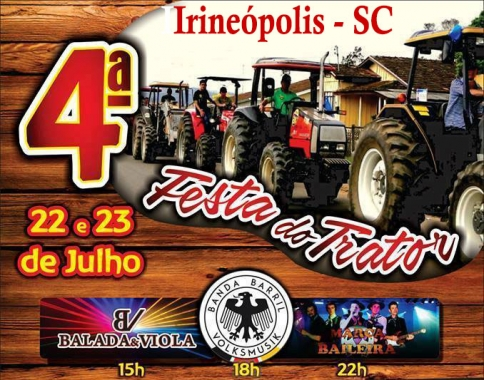 4ª Festa do Trator em Irineópolis - SC