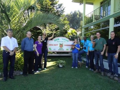 Visitantes americanos na Ervateira Dranka